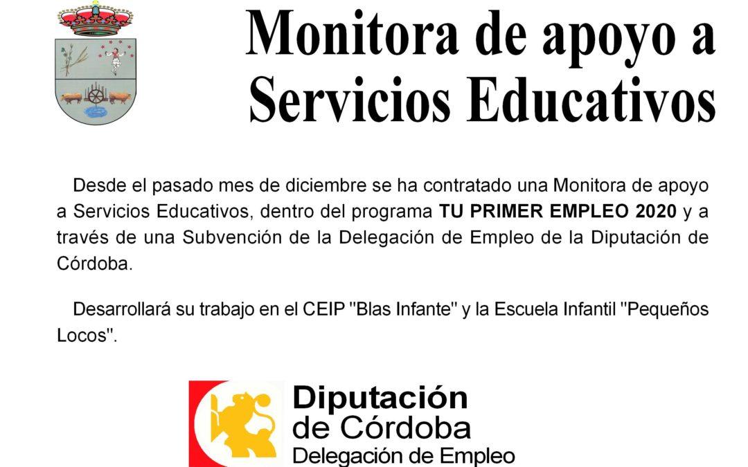 Mnitora de apoyo a Servicios Educativos. Tu Primer Empleo 2020