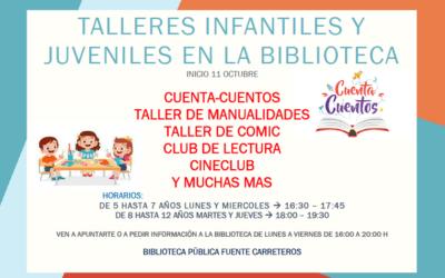 CAMBIO HORARIO TALLERES BIBLIOTECA MUNICIPAL
